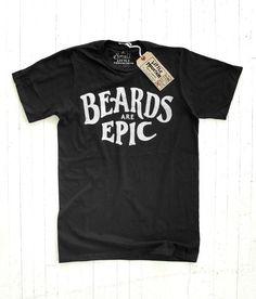 25 Wicked T-shirt Designs Cool T Shirts, Tee Shirts, Tees, Beau T-shirt, Epic Beard, Full Beard, Geile T-shirts, Tee Shirt Designs, Cool Fonts