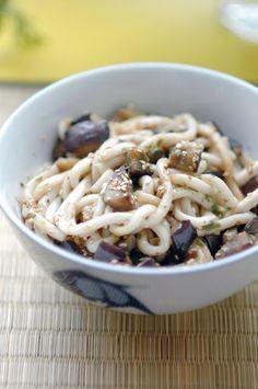 About Foood: My Eggplant & Sesame Udon / Mes Udon aux Aubergines & Sésame