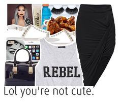 """""""Rebel"""" by destinylove66 ❤ liked on Polyvore featuring Gorgeous Cosmetics, Givenchy, philosophy, Furla and Forever 21"""