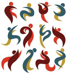Abstract Sport Figures [EPS File]   - Abstract, abstract painting, atlet, curves, dynamic character, eps, eps file, eps format, hand-painted, insan, karakter, lines, patterns, spor, spor figür, spor figürleri, spor ikon, sporcu, sportmen, Sports figures