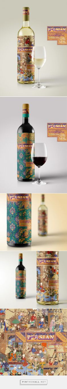Persian Champagne (Concept) - Packaging of the World - Creative Package Design Gallery - http://www.packagingoftheworld.com/2016/07/persian-champagne-concept.html