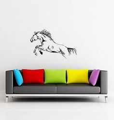Wall Stickers Horse Animal Mustang for Living Room z1289