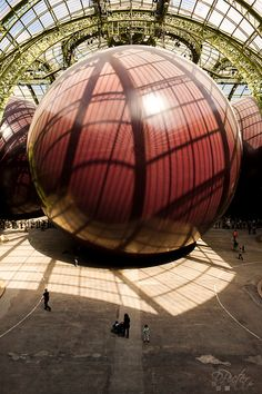Paris - Grand Palais (Anish Kapoor's Leviathan installation) photo: Philippe Lejeanvre