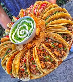 Tag the friends who would help you tackle this taco wheel! food instafood instaeats instagood yum foodie eat foodpics foodporn tasty noms eeeeeats hungry eating foods love foodstagram foodpics instalike photooftheday picoftheday like tapingo Think Food, I Love Food, Good Food, Yummy Food, Crazy Food, Tasty, Cooking Recipes, Healthy Recipes, Diet Recipes