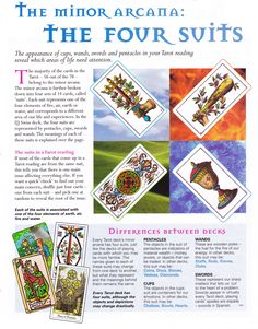Divination:  #Tarot: The Minor Arcana and the Four Suits.
