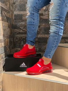Cute Sneakers Shoes Sneakers Air Max Sneakers Hot Shoes Adidas Sneakers Look Com Tenis Nike Air Vapormax Sneaker Boots Nike Shox Moda Sneakers, Shoes Sneakers, Red Adidas Shoes, Women's Shoes, Red Nike Shoes Womens, Sneakers Adidas, Tennis Shoes Outfit, Tennis Dress, Shoes Addidas