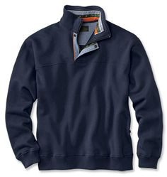 Men's Signature Sweatshirts from Orvis are light years ahead of the competition. Men's sweatshirt with versatile quarter-zip neck (with covered placket and neck snap) offers adjustability and a handsome look with a button-down or tee shirt. Casual Outfits, Men Casual, Sport Outfits, Smart Casual, Casual Wear, Black Men Beards, Mens Outdoor Clothing, Outdoor Outfit, Mens Clothing Styles