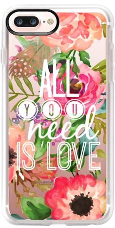 Casetify iPhone 7 Plus Case and other Jande Laulu Covers - All You Need Is Love by Jande Laulu | Casetify
