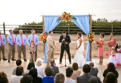 Love these wedding colors for this ocean view wedding in Palos Verdes! Photography by Christopher Brown Photography.