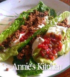 Romaine Tacos. Uses: romaine, garlic, onions, jalapeno, avocado, lemon, cilantro,