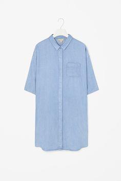 Denim look shirt dress