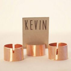 Modern Copper Place Card Holders by Beau-coup