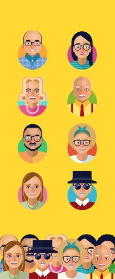 24. Characters on Behance