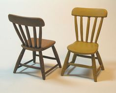 Miniature Shaker Country Thumb Back Chair