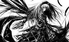 black white hair swish manga