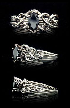 Unique Black Diamond Wedding Rings | ... Black Diamond Puzzle Ring | Unique and Unusual Engagement Ri