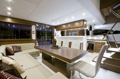 Catamaran interiors