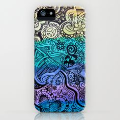 Watercolor Doodle iPhone Case