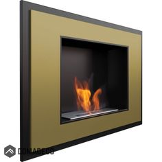 Atlanta Gold - wall hanging fireplace for your home Atlanta, Gold Walls, White Walls, Fire Inserts, Bioethanol Fireplace, Fireplaces, Wall Mounted Fireplace, Ethanol Fuel, External Doors