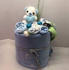 Δώρο από πάνες και με λουλούδια από μωρουδιακά Planter Pots, Decor, Decoration, Decorating, Deco