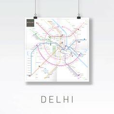Beautiful Metro Maps of World's Main Cities