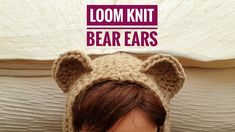 How to Loom Knit Bear Ears (DIY Tutorial). This step-by-step tutorial shows you how to knit bear ears using a loom with 5 pegs minimum. This bear ears can be attached to a knitted hood or hat. In this tutorial you will learn: - How to cast on stitches on Loom Hats, Loom Knit Hat, Knitted Hats, Baby Knitting Patterns, Knitting Stitches, Crochet Patterns, Round Loom Knitting, Loom Knitting Projects, Hat Tutorial