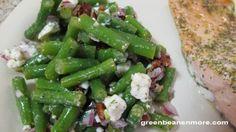 Cold Green Bean Salad, Feta, Pecans