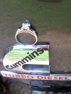 Engagement ring, photo, cummins truck, perfect.