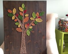 MADE TO ORDER String Art Abstract Tree Sign by TheHonakerHomeMaker