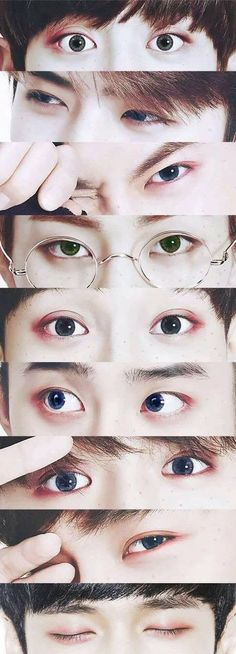Chanyeol's contacts are grey like my eyes! Also, I may be wrong, since I'm a relatively new Exo-l and I can't really tell them apart by their eyes. Kpop Exo, Exo Bts, Bts And Exo, Got7, Kyungsoo, Baekhyun Chanyeol, Park Chanyeol, Taemin, Shinee