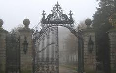 Gate to a Gothic mansion