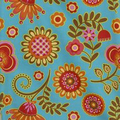 Create fantastic sewing projects with this pretty and delightful fabric. The charming fabric features a gypsy blue background big flower pattern. The 100-percent cotton fabric has a 3 yard cut and measures 47 inches wide.