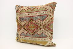 Traditional Kilim Pillow Cover 24 x 24 Handmade Pillow Accent Pillow  Bohemian Pillow Big Pillow Huge Pillow Cushion Cover XL-240 by kilimwarehouse on Etsy