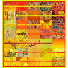 cut through stripe quilt - nice way to use those beautiful big prints Bright Quilts, Small Quilts, Yellow Quilts, Quilting Projects, Quilting Designs, Quilting Ideas, Strip Quilts, Quilt Blocks, Girls Quilts