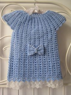 Crochet Knitting Handicraft: Children tunichka
