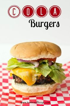 Cola Burgers {Delicious Unique Burger Recipe with French Dressing and Soda Pop!} Cola Burgers are a twist on a traditional burger. A french dressing and cola basting sauce give your burger a perfectly grilled flavor! via @tastesoflizzyt