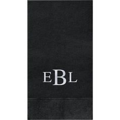 A traditional three letter monogram in the color of your choice creates a classic napkin that will accent any celebration.Size: Guest Napkin, x Style: the most absorbent napkin made. Black Napkins, Letter Monogram, Paper Source, Color Show, Celebration, Metallic, Ink, Lettering, Traditional