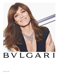 Carla Bruni for Bulgari Spring 2015 by Mario Sorrenti