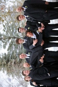 "Jared's Groomsmen - Love how Jensen's ""helping out"""