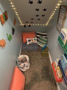 Under stairs small space transformed Under Stairs Playroom, Under Stairs Playhouse, Closet Under Stairs, Space Under Stairs, Kids Basement, Under Stairs Cupboard, Basement Ceilings, Basement Bars, Basement Ideas