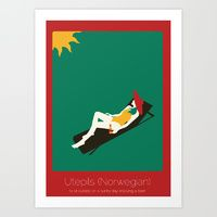 Art Print featuring Found In Translation - Utepsils by Anjana Iyer