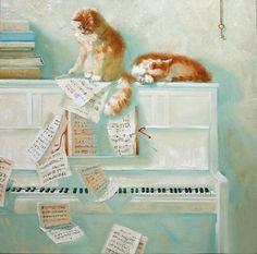 Cute Musicians: Maria Pavlova Paintings