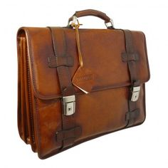 Pratesi Vallombrosa Italian Leather Briefcase