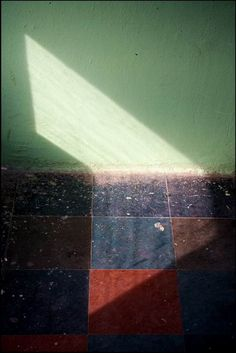 In this space composition there is a light and a space between the picture and the object