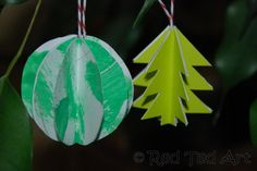 """Red Ted andI got all Christmas crafty again this week. Well, we are in the middle of advent and I find that Christmas is a really special time of year to craft together. I love our little craft today, as it is another great way to """"use kid's art"""" and make something with it. We …"""