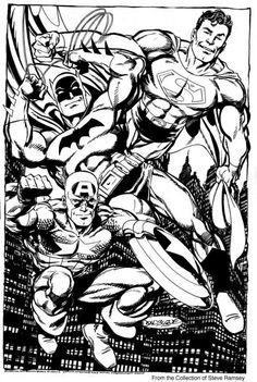Batman, Superman, and Captain America by John Byrne