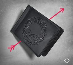 Personalized Rocking Robots Genuine Leather Mens Bi-fold Wallet