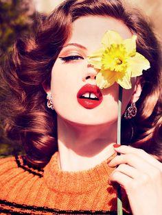 Lindsey Wixson Photography by Ellen von Unwerth For Vogue Magazine Russia July 2015