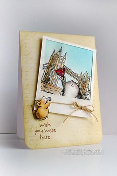 LONDON polaroid card by cathy.fong  sweet.  Use for a drawing of any place or 'wish we were here' to suggest an adventure