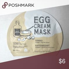 Too Cool For School Egg Cream Firming Mask Sheet mask- perfect to buy with another item as a bundle to save! Makeup